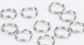 Dubbel ring platinum 6mm