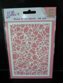 Nellie's  stencil - cirkels mmsa6-009