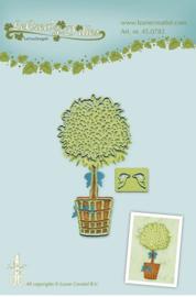 45.0782  Pot plant snij en embossing mal
