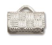 Flat Crimp End Nickel Plate  -10mm