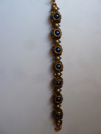 Armband New creation -  Blauw/ Brons