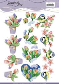 Jeanine's Art Knipvel -  Tulp