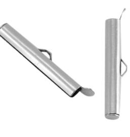 Miyuki Slide Tube 20 mm- silverplate