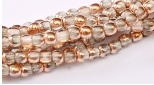 Glass pressed Beads 2mm - 27101 Crystal Capri Gold