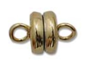 Magnetic Clasp gold plated  - 7mm