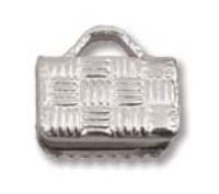 Flat Crimp End Nickel Plate-8mm