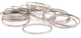 Silver ring  30x0,8mm