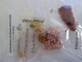 Armband  Eva Chain - roze met zilver