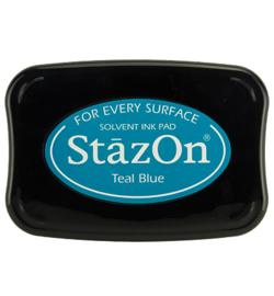 Stazon stempel inkt- Teal Blue