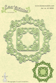 45.9890  frame round lace snij en embossing mal