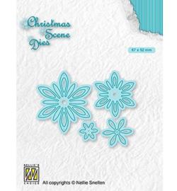 Christmas Die -CRSD018 Flowers