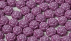 Rosetta 2 hole Cabochon 6mm - Pastel Purple 29364