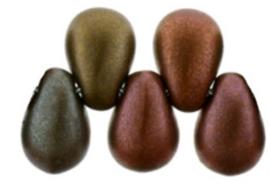 Teardrops K0164 - Matte metallic Bronze Iris