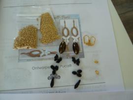 Pakket Lolita ®Par Puca® oorbellen [Athos Zwart/ brons]