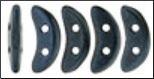 Crescent Beads - Metallic Suede Dark Blue - 79032MJT
