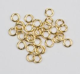 Ringetje 4mm goudkleur 1137