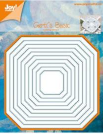 6002/0558  stencil Gerti's nesting vierkant schuine hoek