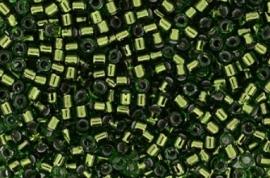 Delica Bead 9663-333  silverlined dark Green