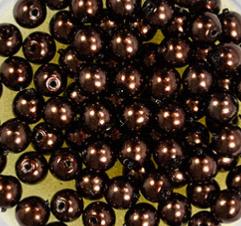 Parels 4mm  ChocoBruin - 04521