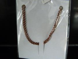 Metaal ketting Copper kleur