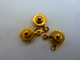 druk sluiting 10mm   goudkleur