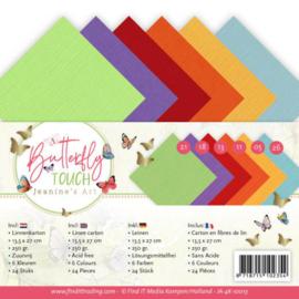 Linnenpersing 4kante kaart- Butterflies