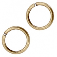 Ringetjes 6mm - DQ Antiek Brons  Plated