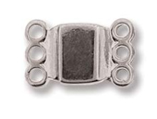 Magnetic Clasp - 3 ring  13,7x8,6mm