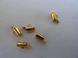 Tube sluiting 5,5mm goudkleur