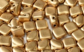 Silky Beads 2-hole 6x6mm Aztec Gold - 01710
