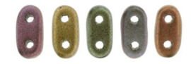 2Hole cz mates Bar-k0164 Mat metallic Bronze iris 6x2mm