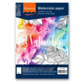 Watercolor papier- Smooth White 200grams