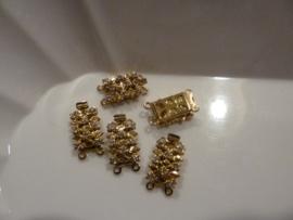 sluiting 2 rijig - goldfb-kristal 931