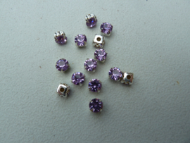 Montees 6mm -Light Violet