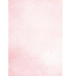 Achergrondpapier A4- white circles in pink