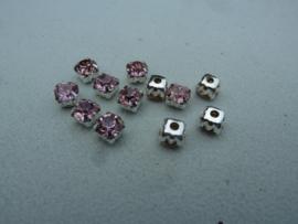 Montees 6mm- Licht Roze