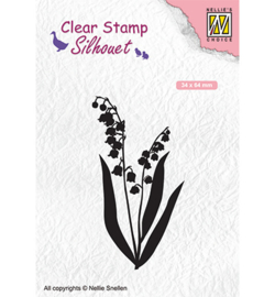 Clear Stamp  Silhouet - Lily of the valley sil065