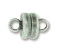 Magnetic Clasp asp Antique Silver - 6mm