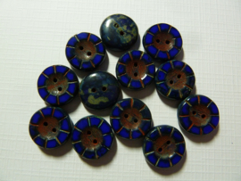 Table Cut Button- Opaque cobalt   49354