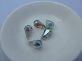 Glasschiffperle Tropfen-14214 Olivine AB