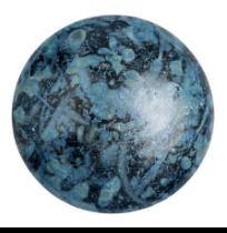 Cabochon 14mm ®ParPuca® Metallic mat Blue Spotted