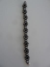 Armband New Creation- Zwart met zilver