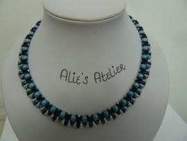 Collier Vexali   Blauw-Zilver