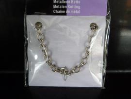 Metaal ketting  Zilver kleur