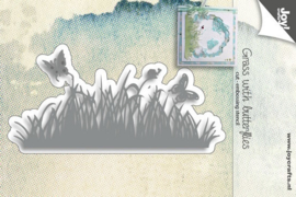 Joy Craft Die- 6002/1133 Grass  met vlinders