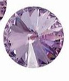 Rivoli 14mm- Violet Foiled
