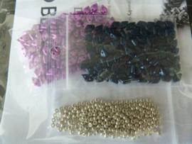 Basket Weave Bangle - Kleuren : Crocus -D Blauw- zilver