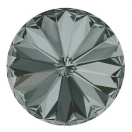 Rivoli 12mm- Black Diamond Foiled