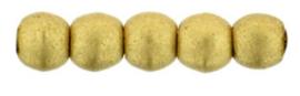 Round beads - K0171  Matte Metallic Flax