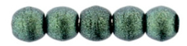 Round beads - 79051MJT   Metallic Suede LT. Green